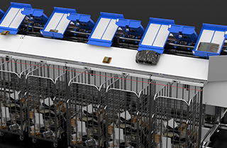 10.000 items per hour and lightning fast installation: The LR-sorter