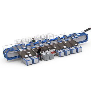 Slide tray sorter LR